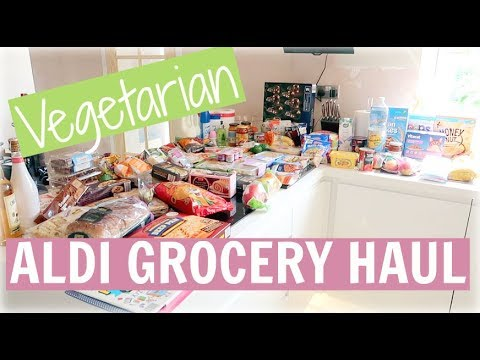 VEGETARIAN ALDI GROCERY HAUL | MEAT FREE MEAL IDEAS