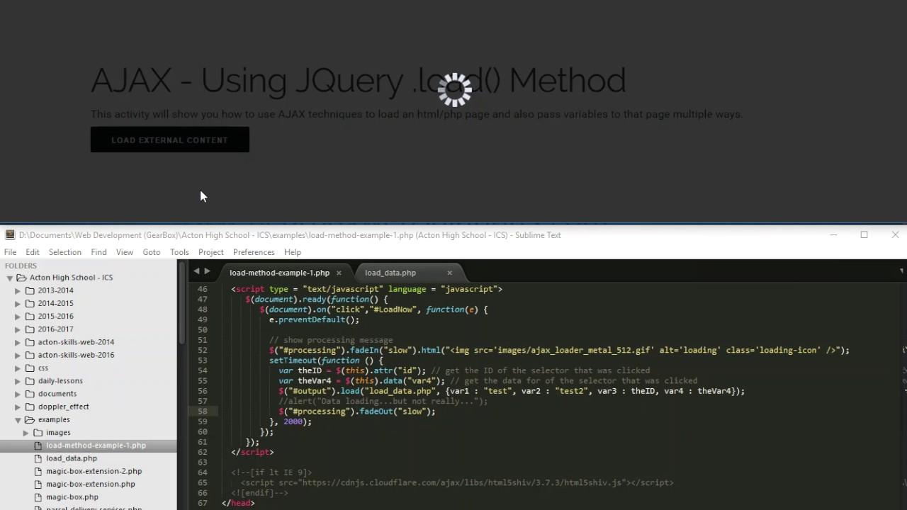 Ajax jquery load method tutorial youtube ajax jquery load method tutorial baditri Choice Image