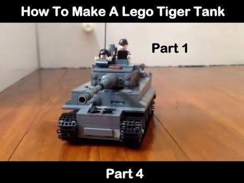 How to make a lego tiger tank pt1