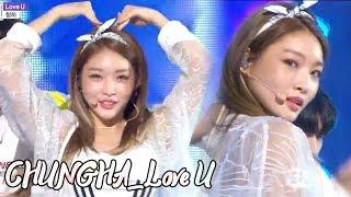 [Comeback Stage]CHUNG HA - Love U , 청하 -Love U Show Music core 20180721