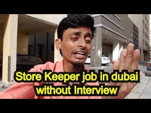 Store Keeper Job In Dubai Without Interview