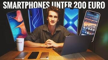 Die BESTEN Smartphones UNTER 200 Euro!