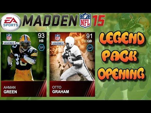 Madden 15 Ultimate Team - Ahman Green & Otto Graham Legend Pack Opening - MUT 15