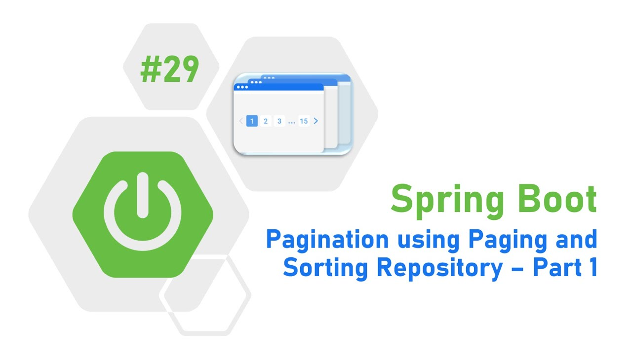 29 - Spring Boot Tutorial : Pagination using Paging and Sorting Repository