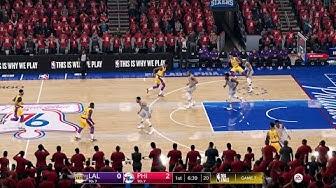 NBA FINALS 2020 LA LAKERS vs 76ERS MAX QUALITY