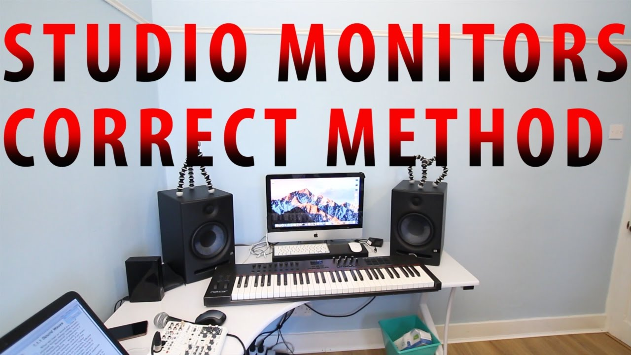 studio monitors correct method placement and positioning youtube. Black Bedroom Furniture Sets. Home Design Ideas