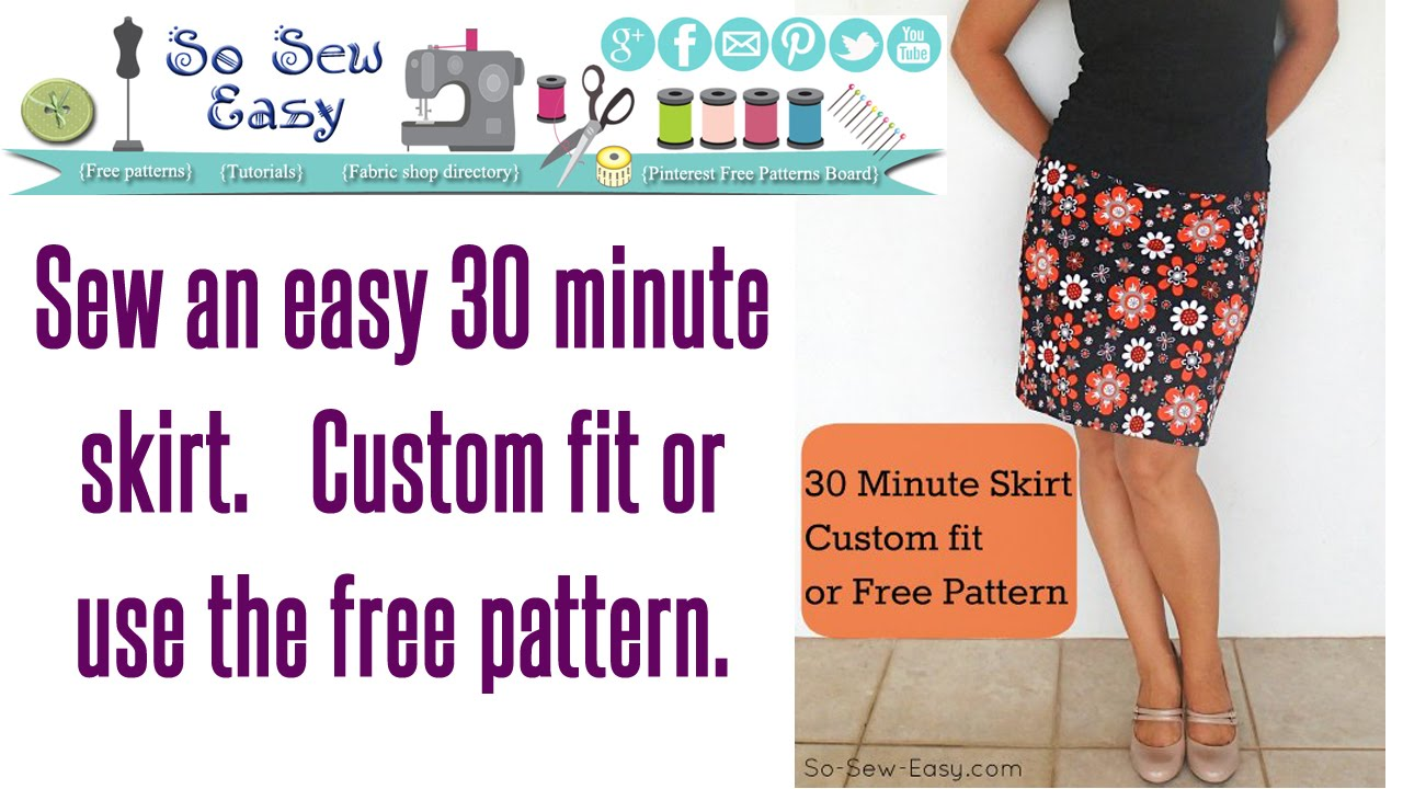 30 Minute Skirt Sew An Easy Stretch Skirt In Minutes Youtube