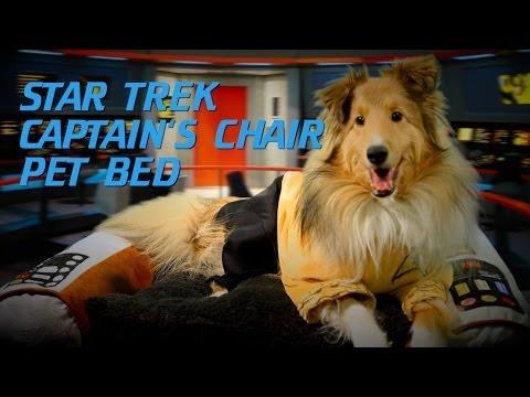 Star Trek Captain's Chair Pet Bed from ThinkGeek