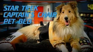 Star Trek Captain's Chair Pet Bed From Thinkgeek