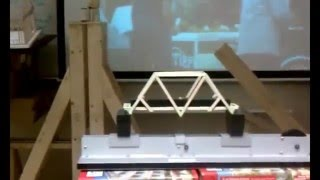 Balsa Wood Bridge 160 Lbs