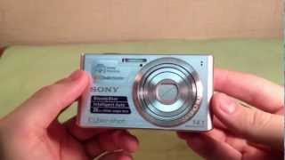 распаковка фотокамеры Sony Cyber-shot DSC-W610