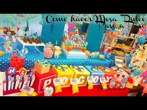 Como Hacer Mesa Dulce Candy Bar PASO A PASO 1ero