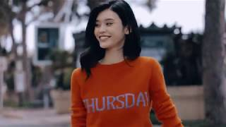 Rainbow Week by Alberta Ferretti starring Ming Xi