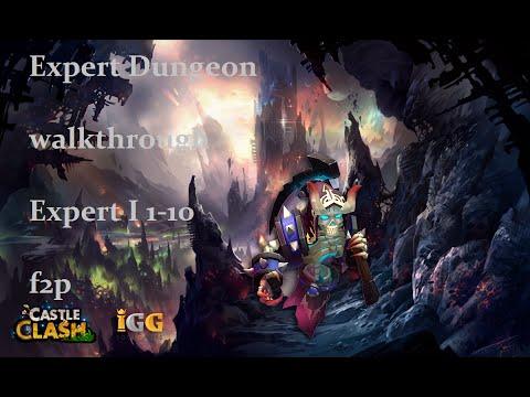 Castle Clash: Schloss Konflikt: Tutorial#1: Expert Dungeon 1 Walkthrough F2p