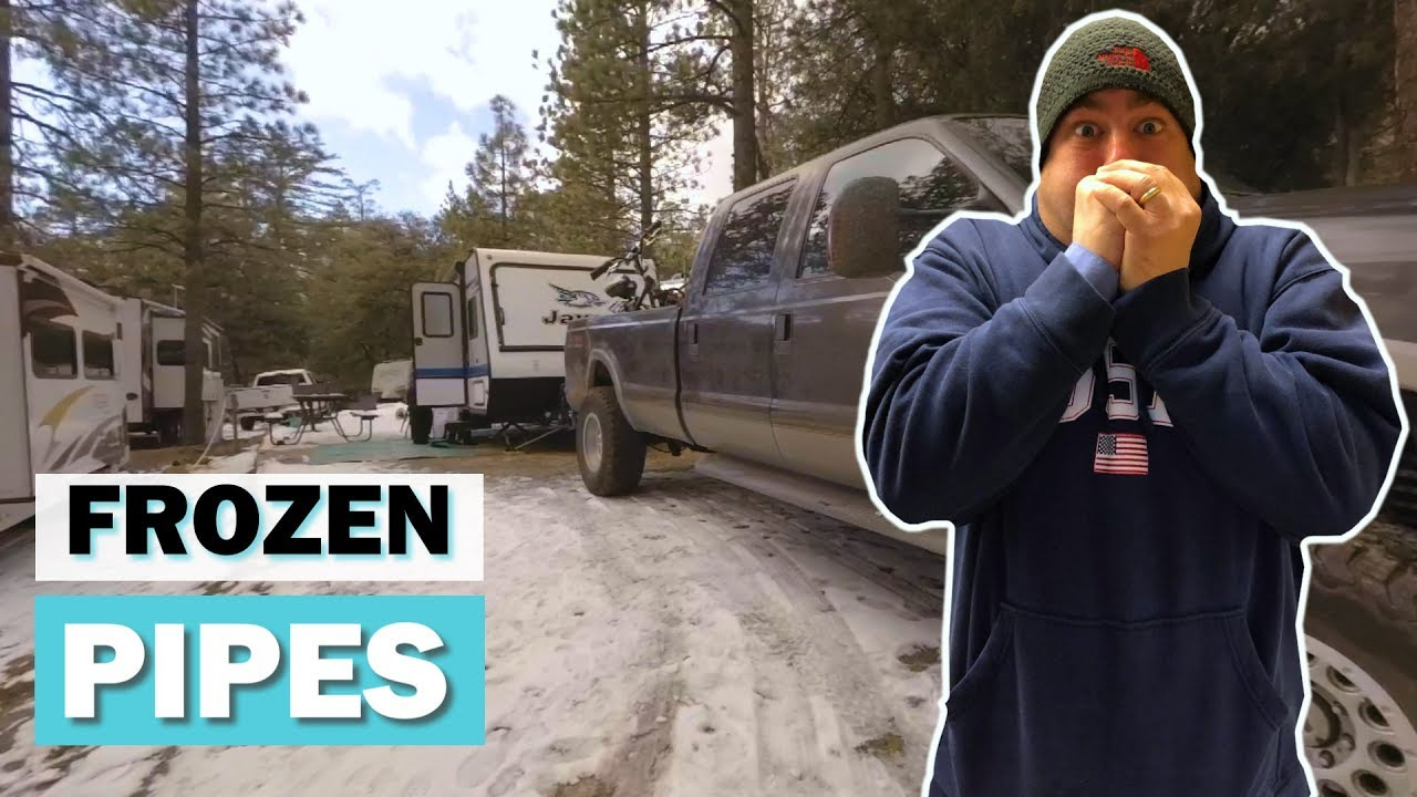 Hybrid Campers in the Snow | Idyllwild RV Resort Campground Review