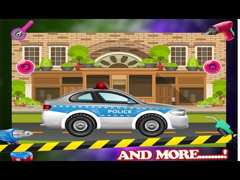 police car mechanic fix it cartoon games for kids video free car games to play android