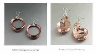 Copper Fold Formed Jewelry Collection by I Love Copper Jewelry