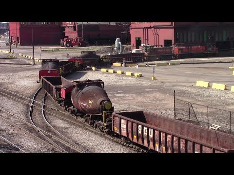 Awesome Switchers and Train Cars at the ArcelorMittal Steel Mill