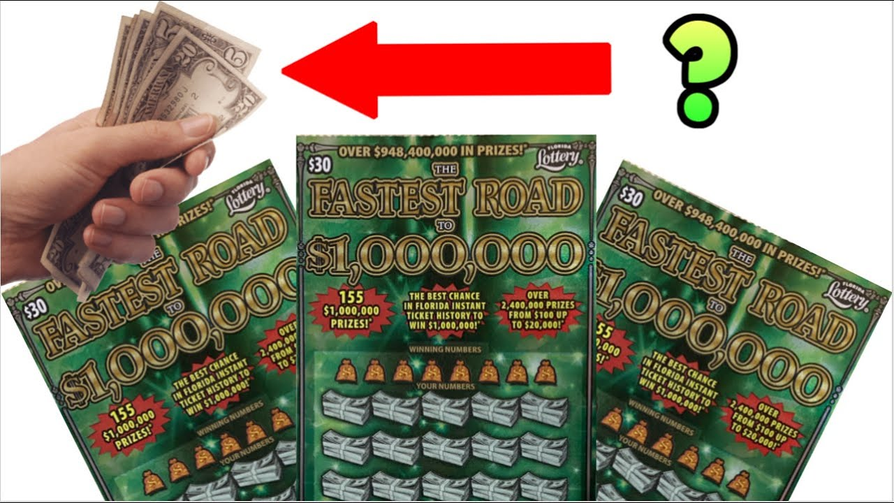 FASTEST ROAD TO A MILLION SCRATCH OFF TICKETS - FLORIDA LOTTERY - YouTube
