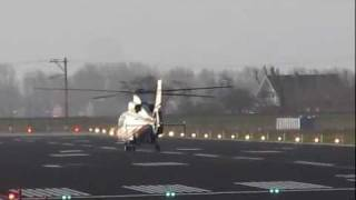 AS365 landing at Den Helder Airport