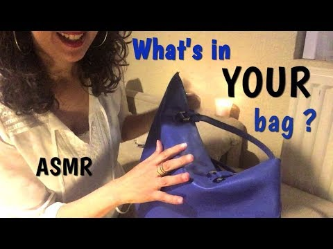 ASMR roleplay - what's in YOUR bag ? Chuchotement et nouveaux triggers