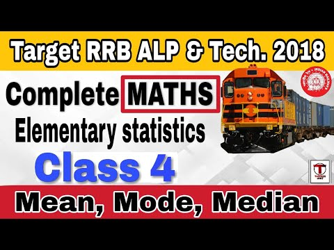 RRB ALP 2018 ||complete Maths||Elementary statistics||class 4||mean/average, median, mode