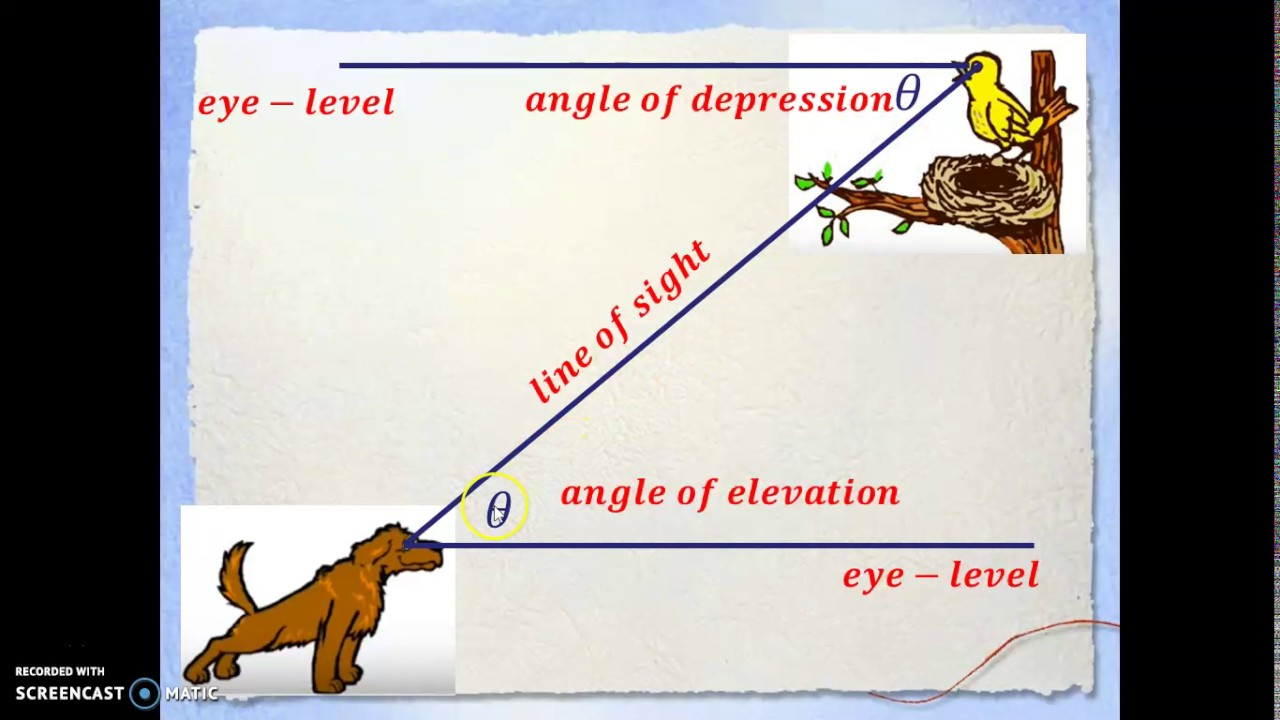 angle of elevation and depression pdf