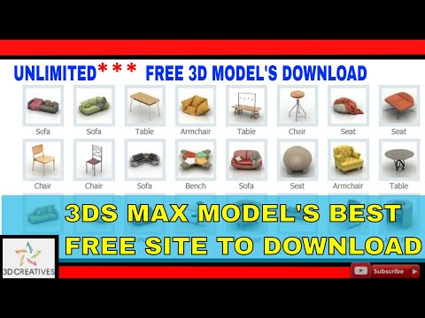 3D MODELS FREE UNLIMITED DOWNLOAD & IMPORT IN 3DS MAX TUTORIALS
