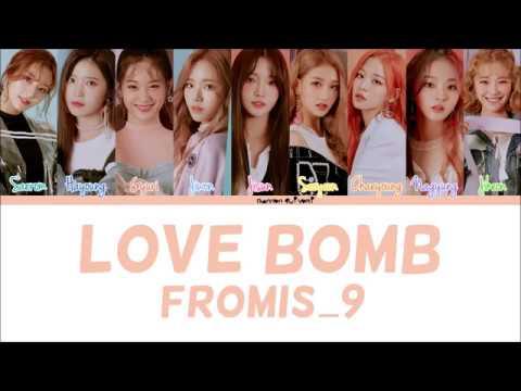 Fromis_9(프로미스나인) - LOVE BOMB Color Coded Lyrics (Han/Rom/Eng)