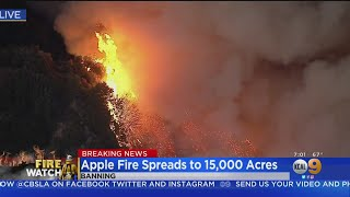 Apple Fire In Riverside County Explodes To 15,000 Acres; 0 Percent Containment