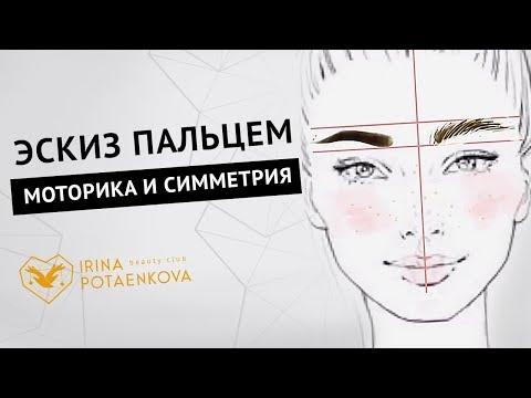 Как нарисовать эскиз бровей? Тренировка глазомера с помощью телефона