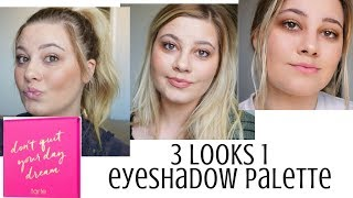 3 Looks Using 1 Palette Tarte S Don T Quit Your Day Dream Tommie Dooley