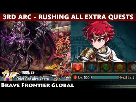 3rd Arc Rush! Clearing All Extra Quests (Brave Frontier Global)