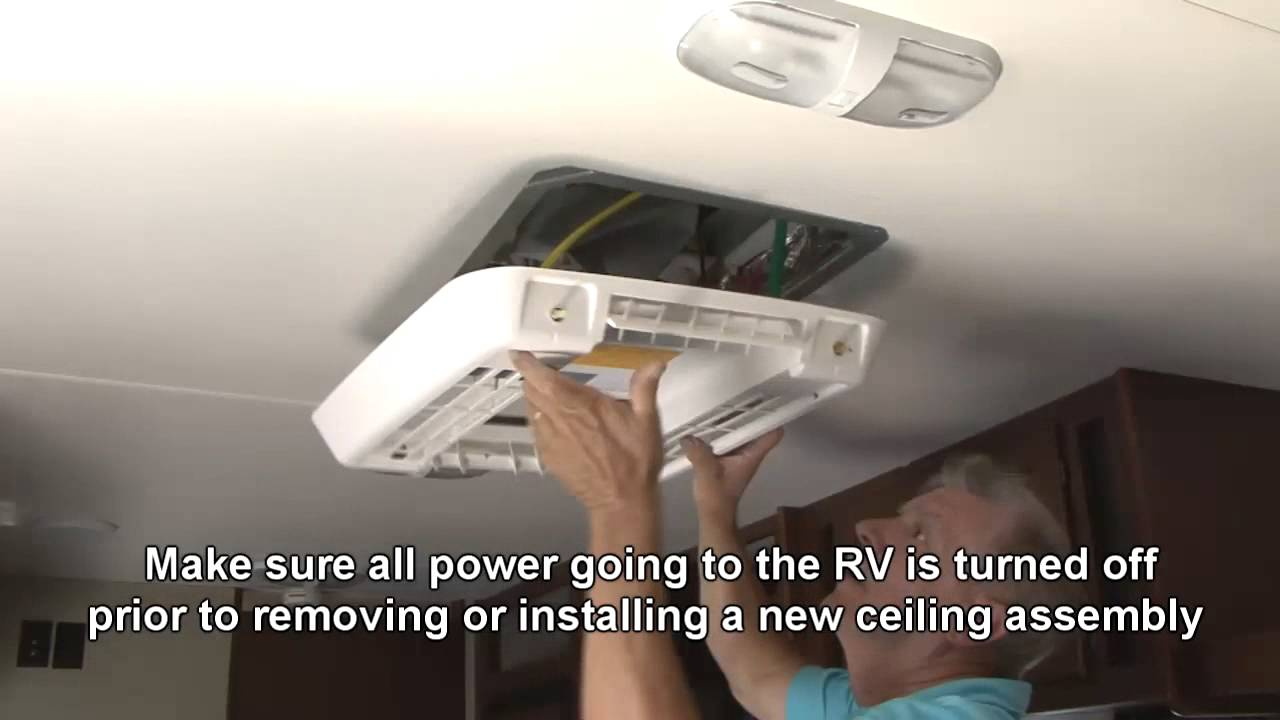 How To Install a Deluxe Free Delivery AC Ceiling Assembly -RVDIYChannel com
