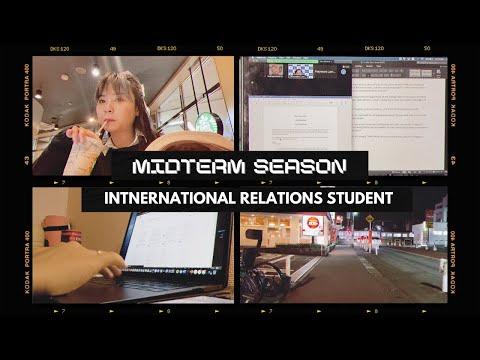 Midterm Season Study Vlog :) // International Relations Fall 2020  (Tokyo International University)