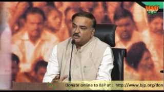 BJP Press: Parliamentary Board Meeting on Ram Jethmalani Suspension: Sh. Ananth Kumar: 26.11.2012