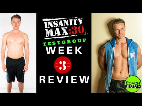 Insanity Max 30 Review - Test Group Week 3 Results