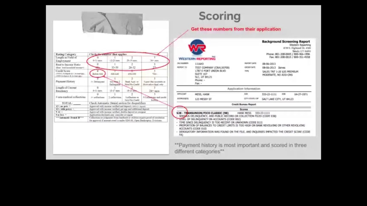 Part 1 screening tenants how to score a sample credit report youtube part 1 screening tenants how to score a sample credit report altavistaventures Choice Image