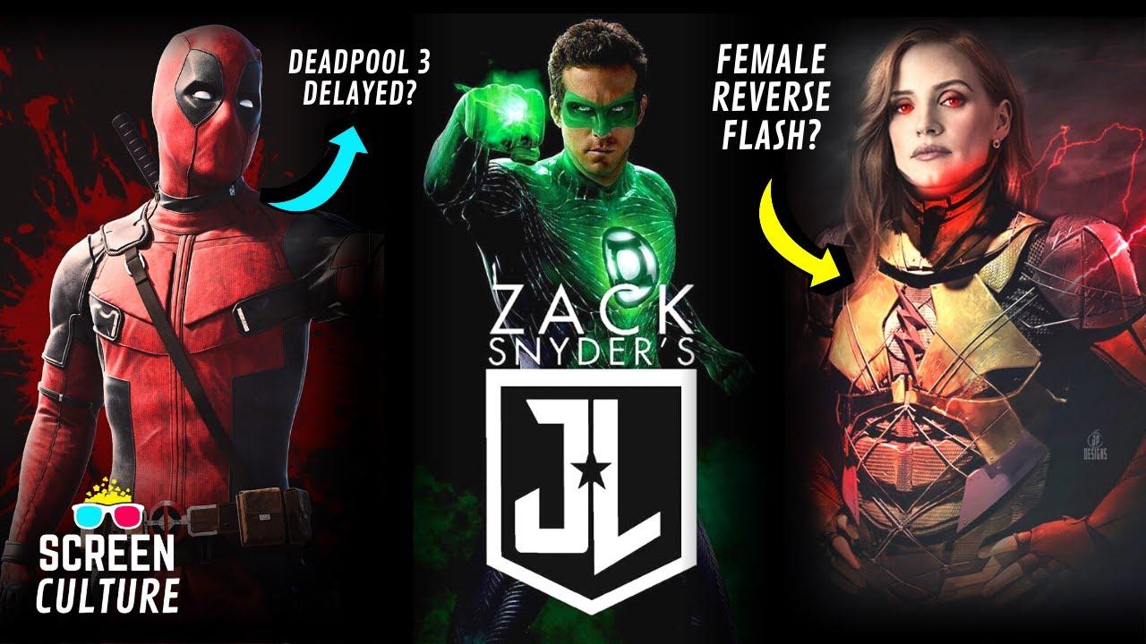 Ryan Reynolds Green Lantern In Justice League Snyder Cut + Deadpool 3 Trailer & Flashpoint News