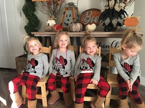 DAD ATTEMPTS HAIRSTYLES ON QUADRUPLET DAUGHTERS