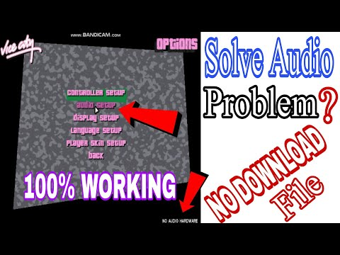 GTA Vice City Fix Audio Problem | How To Solved Audio Problem In GTA Vice City | All Setting 2021