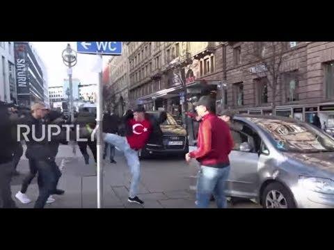Germany: Rival Kurdish, Turkish rallies clash in Stuttgart