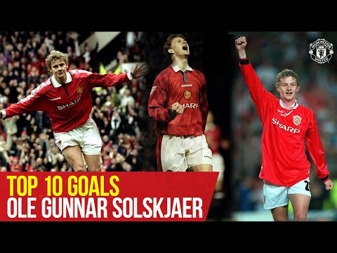 Ole Gunnar Solskjaer   Top Ten Goals   Manchester United   25 years at Old Trafford