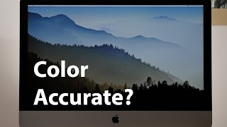 iMac 5k Color Accuracy