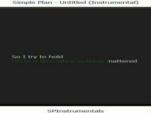 Simple Plan - Untitled [Karaoke / Instrumental]