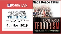 'The Hindu' Analysis for 4th November, 2019 (Current Affairs for UPSC/IAS)