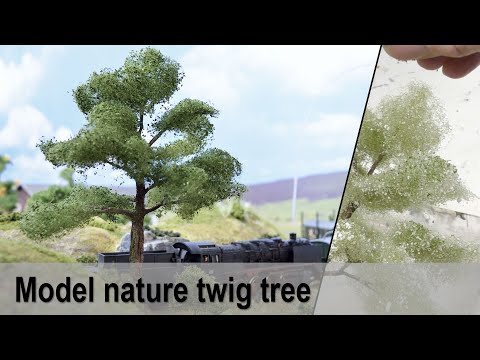 Model realistic miniature trees easy & low cost