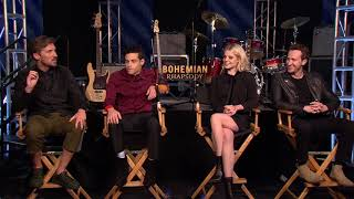 Bohemian Rhapsody - Itw Rami Malek, Joseph Mazzello, Lucy Boynton, Gwilym Lee (official video)