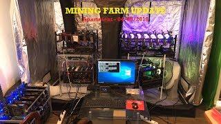Crypto Mining Farm Update at Apartment - 04/08/19