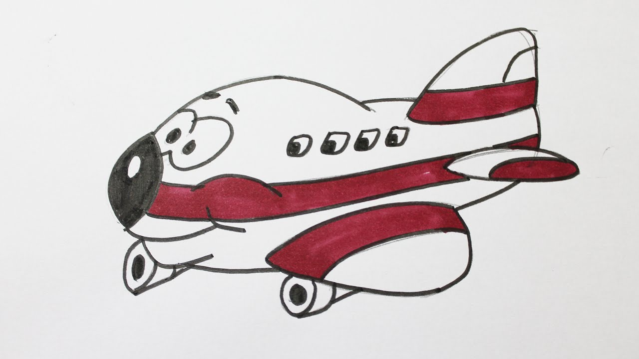 Comment dessiner un avion youtube - Dessin avion stylise ...